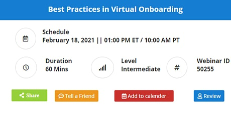 Best Practices in Virtual Onboarding tickets