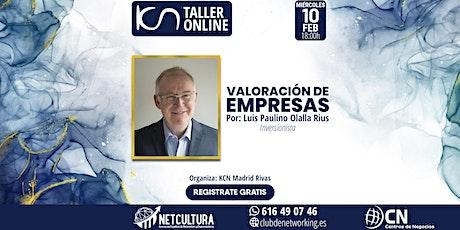 Taller Online - Valoración de Empresas 10Feb entradas