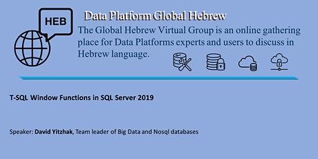 T-SQL Window Functions in SQL Server 2019, with David Yitzhak bilhetes