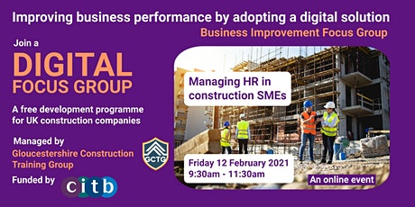 Digital Focus Group: Managing HR in construction SMEs tickets