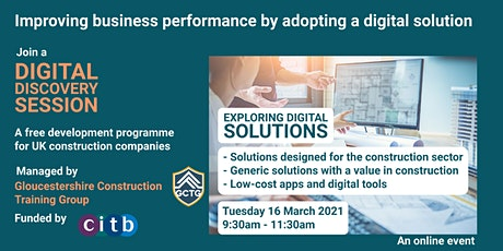 Digital Discovery Session - Exploring a range of digital solutions tickets
