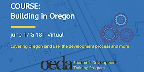COURSE: Building in Oregon (Virtual) tickets