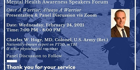 Mental Health Awareness Presentation for Veterans, Active Duty and Families tickets