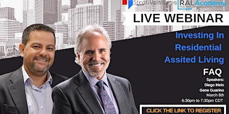 Investing in Residential Assisted Living. Q&A Session tickets