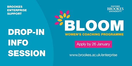 Bloom Drop-in Info Session tickets