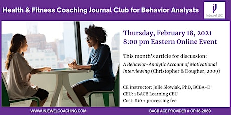Health & Fitness Coaching Journal Club for Behavior Analysts (Feb 2021) tickets