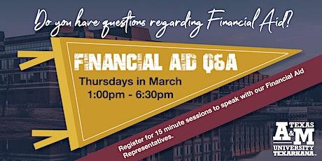Financial Aid Q&A tickets
