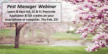 Pest Manager Webinar: Tree Pests & Educational Resources for Pest Managers tickets