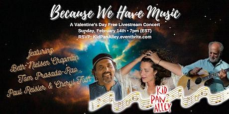 Valentine's Livestream-Beth Nielsen Chapman, Tom Prasada Rao, Paul Reisler tickets