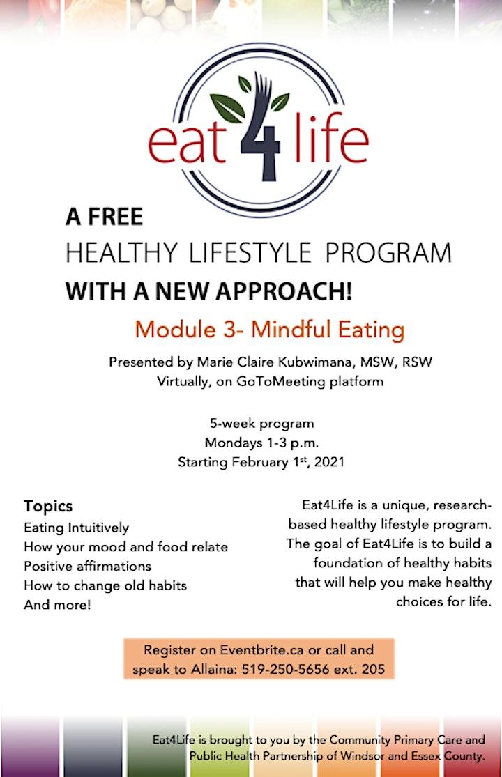 Eat4Life Module 3- Mindful Eating image
