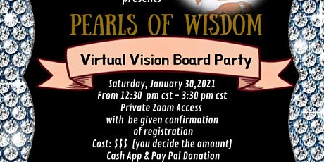Pearls of Wisdom Virtual Vision Board Party tickets