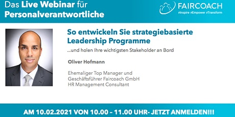 So entwickeln Sie strategiebasierte Leadership Programme Tickets