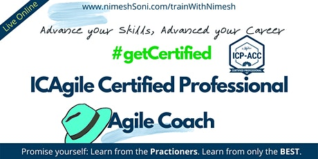 ICAgile Coaching Certification (ICP ACC) - 2020Mar-EST tickets