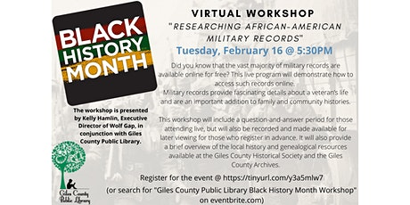 Giles County Public Library Black History Month Workshop tickets
