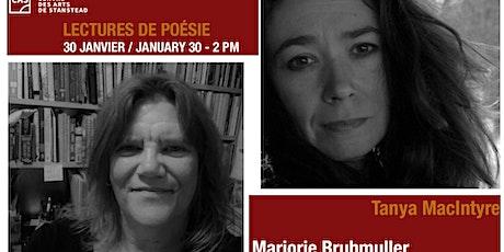 Poetry Reading Series on Zoom---Tanya McIntyre & Marjorie Bruhmuller tickets