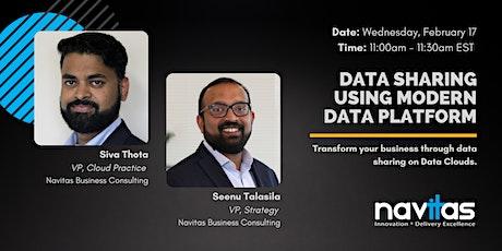 Navitas Presents: Data Sharing Using Modern Data Platform tickets