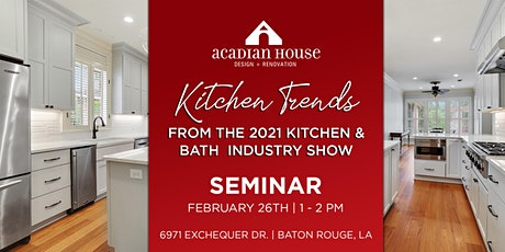 Kitchen Trends - From the Kitchen + Bath  Industry Show tickets