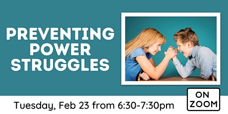 Online: Preventing Power Struggles tickets