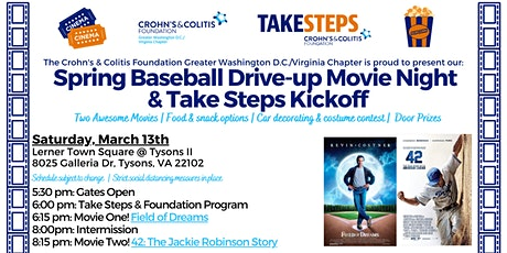 Baseball Drive-up Movie Night benefiting the Crohn's & Colitis Foundation tickets
