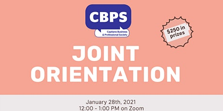 Capilano Business & Professional Society Joint Orientation tickets
