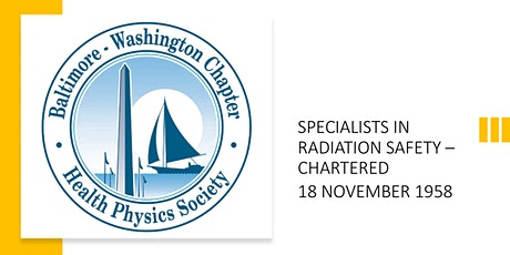 Annual Mtg of the Baltimore-Washington Chapter of the Health Physics Soc tickets