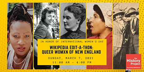 Wikipedia Edit-a-thon: Queer Womxn of New England Throughout History tickets