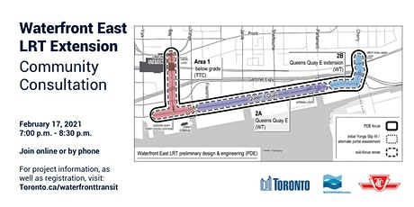 Waterfront East LRT Extension Virtual Public Meeting tickets