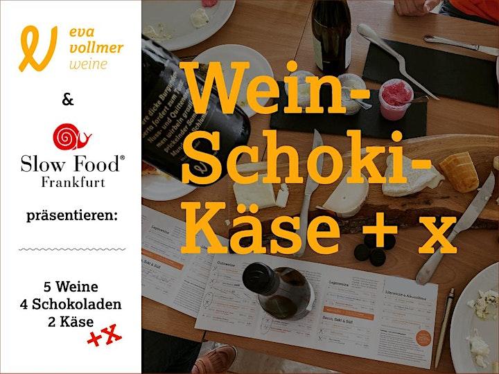 Wein, Schoki, Käse + X am 27. März: Bild