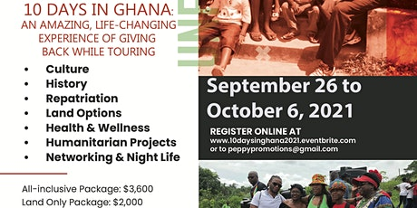 10 days in Ghana with The Give Black Foundation tickets