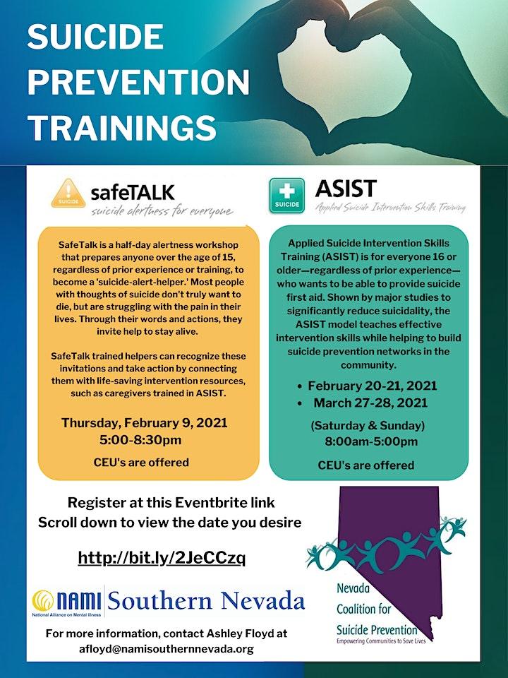 Suicide Prevention Training: ASIST image