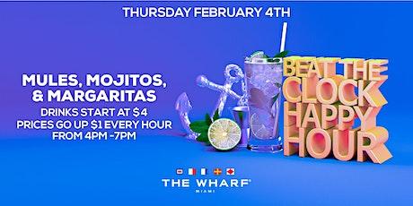 BEAT THE CLOCK Happy Hour, Thursdays at The Wharf Miami tickets