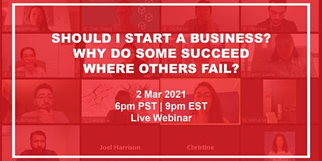 Should I start a business? Why do some succeed where others fail? tickets