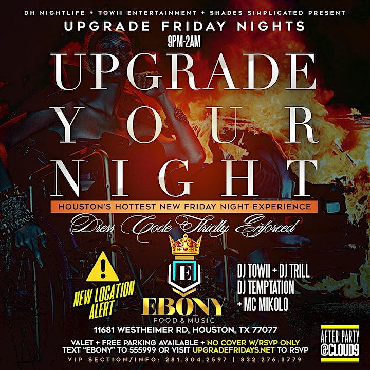 UPGRADE FRIDAYS AT EBONY FOOD AND MUSIC ON WESTHEIMER image