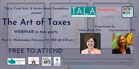 Part 2: The Art of Taxes - Webinar in two parts tickets
