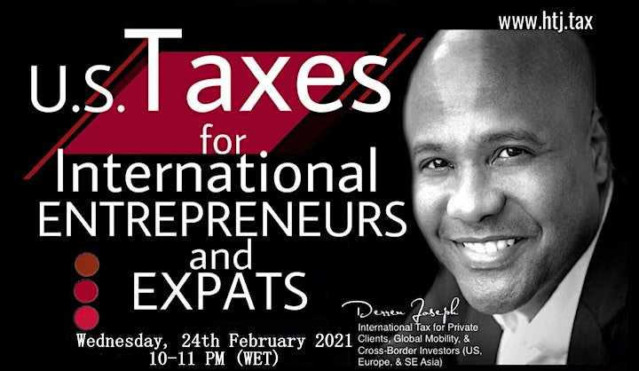 (WEBINAR) U.S. TAXES FOR INTERNATIONAL ENTREPRENEURS AND EXPATS image