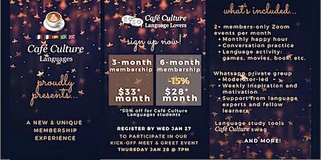 Café Culture: Language Lovers 3-month Membership tickets