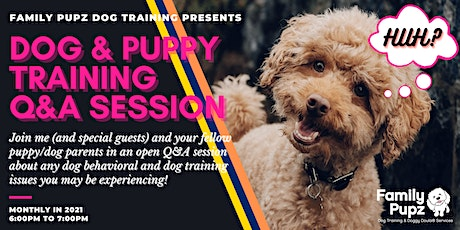 Dog & Puppy Training Live Q&A Session tickets