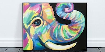 "Elephant ""Ellie Font"" Painting (Virtual Instruction)"