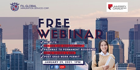 ❗FREE WEBINAR: Study, Work and Live in Canada tickets