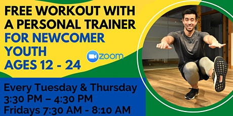 Online Workout Session with a Personal Trainer for Newcomer Youth tickets