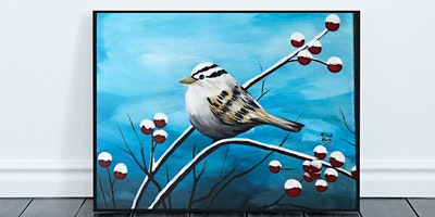 Winter Sparrow Painting (Virtual Instruction)