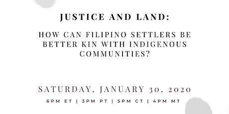 Justice & Land: How can Filipinos be Better Kin wi tickets