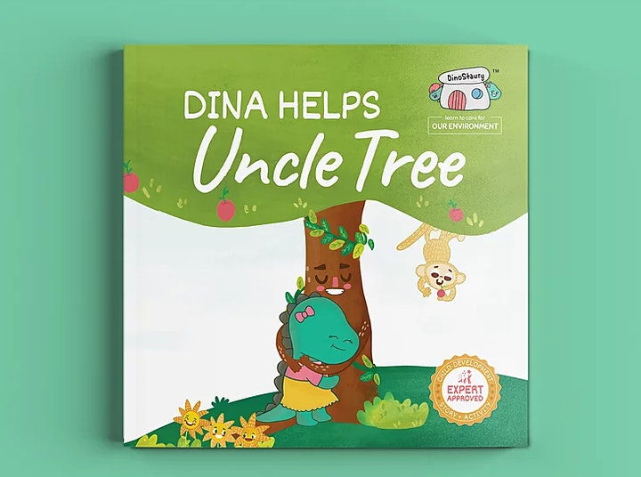 Farm Day Out for kids:  'Dina Helps Uncle Tree' by DinoStaury image