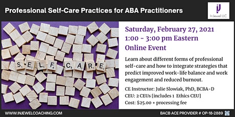 Professional Self-Care Practices for ABA Practitioners tickets