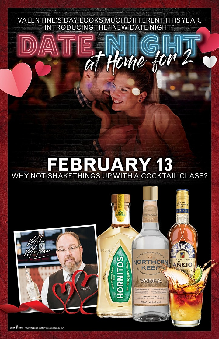 Valentine's Date Night At Home For 2 - Cocktail Class image