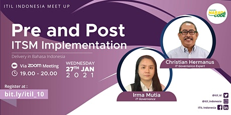(ONLINE) ITIL Indonesia - Pre and Post ITSM Implementation tickets