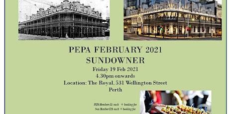 February 2021 Sundowner - The Royal tickets