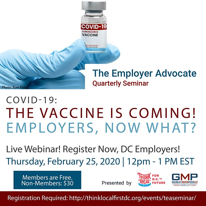 The Vaccine Is Coming! DC Employers, Now What? image