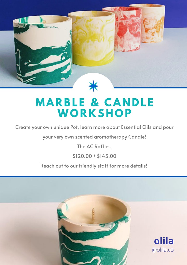 Masterclass Morning: Marble Pot + Candle Workshop by OLILA image