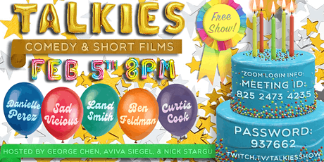 TALKIES: Live Comedy and Short Films (on Zoom) tickets